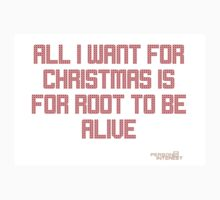 All I Want For Christmas (Root (White Scale)) Kids Tee