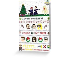 The X-Files Christmas - Santa is Out There Greeting Card