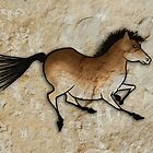 Cave Art Horse - Cheval No.3 by Jan Szymczuk