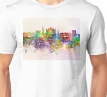 Exeter skyline in watercolor background Unisex T-Shirt