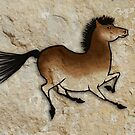 Cave Art Horse - Cheval No.4 by Jan Szymczuk