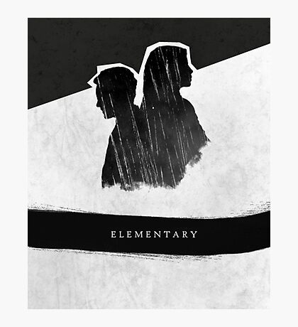 Elementary Profile Shadow Poster Photographic Print
