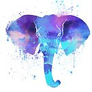 Watercolor Elephant  by Thubakabra