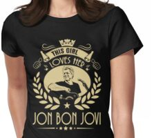 This girl love Bon Jovi Womens Fitted T-Shirt