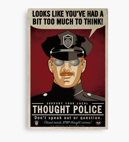 Thought Police Canvas Print