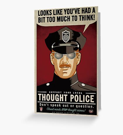 Thought Police Greeting Card