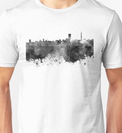 Johannesburg skyline in black watercolor on white background Unisex T-Shirt