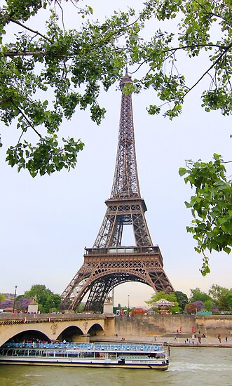 Eiffel Tower and Seine River by Heidi Hermes