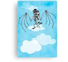 Skeleton Bat Canvas Print