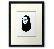 Mona Lisa Hipster Framed Print