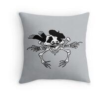 Skeleton Frog Throw Pillow