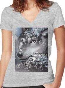 Winter Werewolf Women's Fitted V-Neck T-Shirt