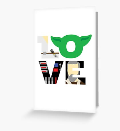 Star Wars Love Typography Greeting Card
