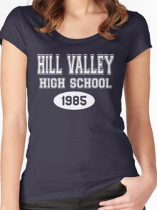 Hill Valley High School 1985 - Back To The Future Women's Fitted Scoop T-Shirt