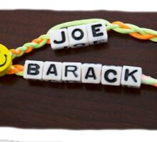 friendship bracelets obama  Sticker