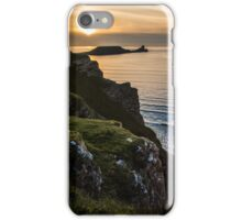 Sunset at Rhossili bay, Worms head, Swansea iPhone Case/Skin