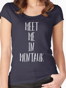 Meet Me In Montauk - Eternal Sunshine Of The Spotless Mind Women's Fitted Scoop T-Shirt