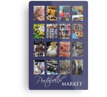 Portobello Market (Purple) Metal Print