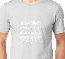 10th Birthday Checklist Be Awesome 10 Years Old T-Shirt Unisex T-Shirt