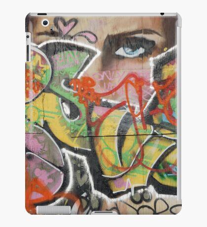 found street art urban graffiti layers texture pattern lettering portrait iPad Case/Skin