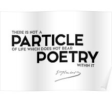 particle,  poetry - gustave flaubert Poster