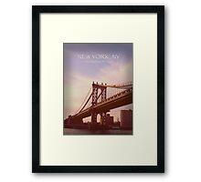 Manhattan Bridge, New York Framed Print