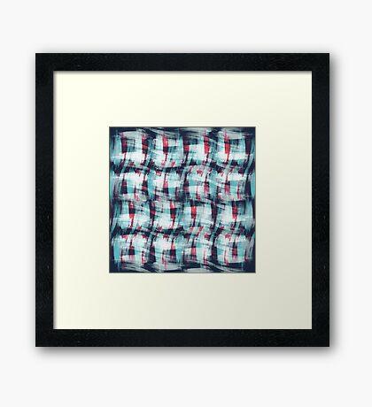 Brush Hatch Framed Print