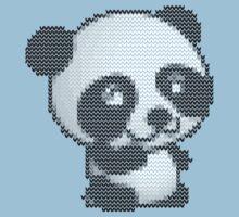 knitted sweater panda Kids Tee