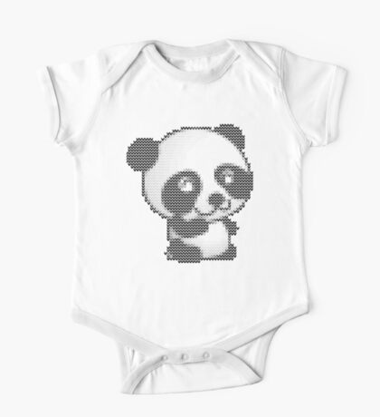 knitted sweater panda One Piece - Short Sleeve