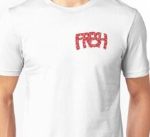 fresh red on white Unisex T-Shirt