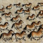 Cave Art Horses - Herd of Cheval by Jan Szymczuk