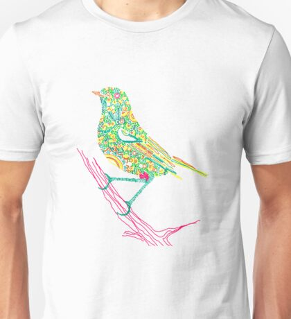 Bird sitting on a branch Unisex T-Shirt