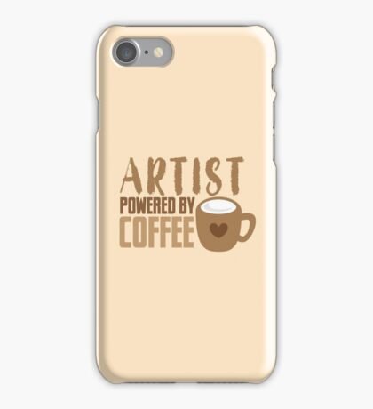 ARTIST powered by coffee iPhone Case/Skin