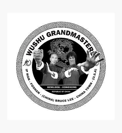 Bruce Lee & Ip Man Collaboration Photographic Print