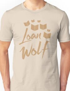 loan wolf (librarian with books) Unisex T-Shirt