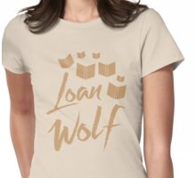 loan wolf (librarian with books) Womens Fitted T-Shirt