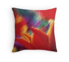 Orange Tulips Abstract Painting Throw Pillow
