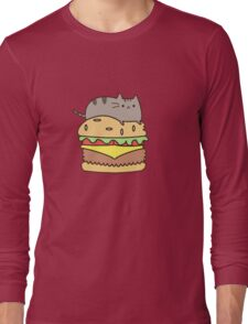 burguer cat Long Sleeve T-Shirt