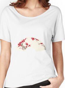 Plum Blossom In Fan Women's Relaxed Fit T-Shirt