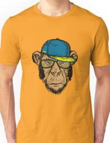 Fashion Portrait of Monkey Hipster Unisex T-Shirt