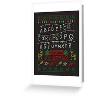 Stranger Things Xmas Greeting Card