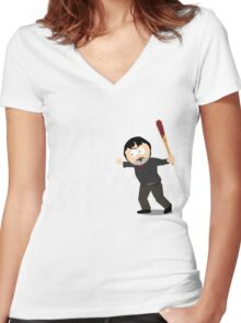 Randy Marsh - Negan Women's Fitted V-Neck T-Shirt