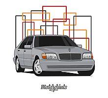 Mercedes-Benz S600 (W140) (gray) Photographic Print