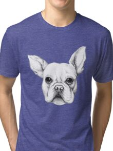 Cute Frenchie Pug Tri-blend T-Shirt