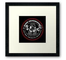 Bruce Lee & Ip Man Collaboration Black Variant Framed Print