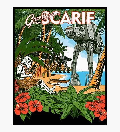 Greetings from Scarif Photographic Print