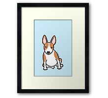 English Bull Terrier Puppy Dog ... brown & white Framed Print