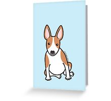 English Bull Terrier Puppy Dog ... brown & white Greeting Card