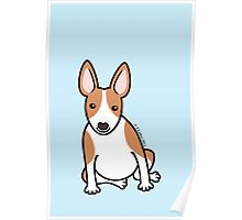 English Bull Terrier Puppy Dog ... brown & white Poster