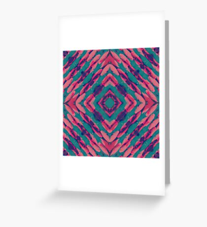 Neon Psych Tile Greeting Card